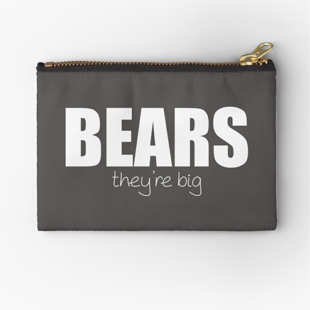 BEARS - they're big Zipper Pouch