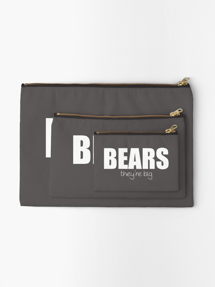 Alternate view of BEARS - they're big Zipper Pouch