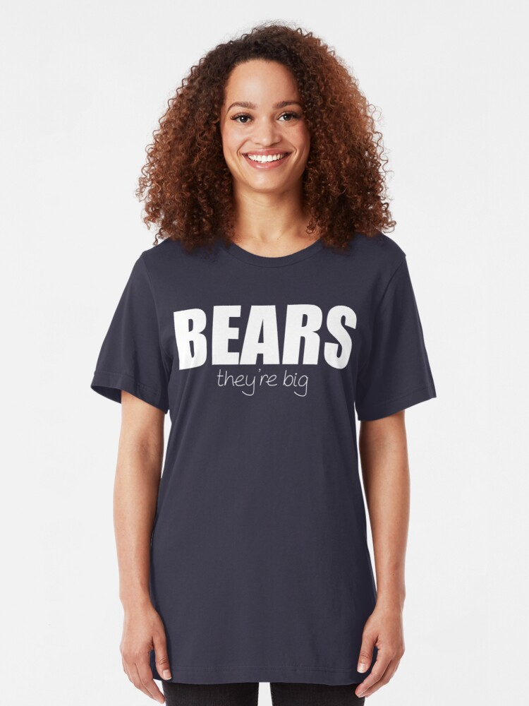 Alternate view of BEARS - they're big Slim Fit T-Shirt