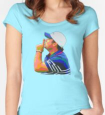Shhhhh Patrick Reed Women's Fitted Scoop T-Shirt