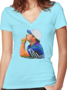 Shhhhh Patrick Reed Women's Fitted V-Neck T-Shirt
