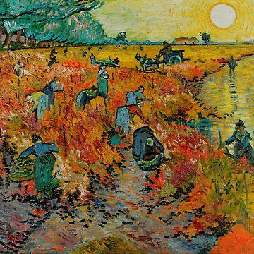 Vintage Vincent Van Gogh  Red Vineyard at Arles 1888 by AllVintageArt