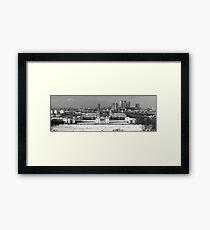Snow Bound Greenwich Mean Time B/W Framed Print