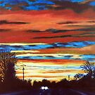 'SUNSET OVER REA ROAD' by Jerry Kirk