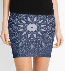 Indigo Mystique Mandala Mini Skirt