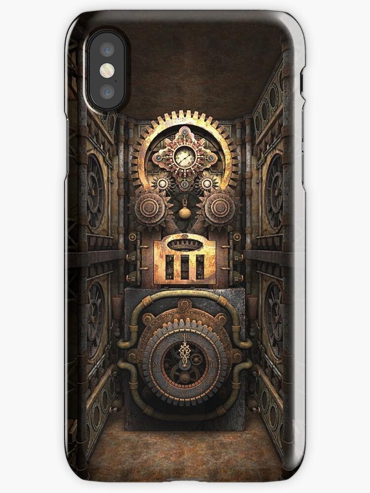 Infernal Steampunk Vintage Machine #4 phone cases by Steve Crompton