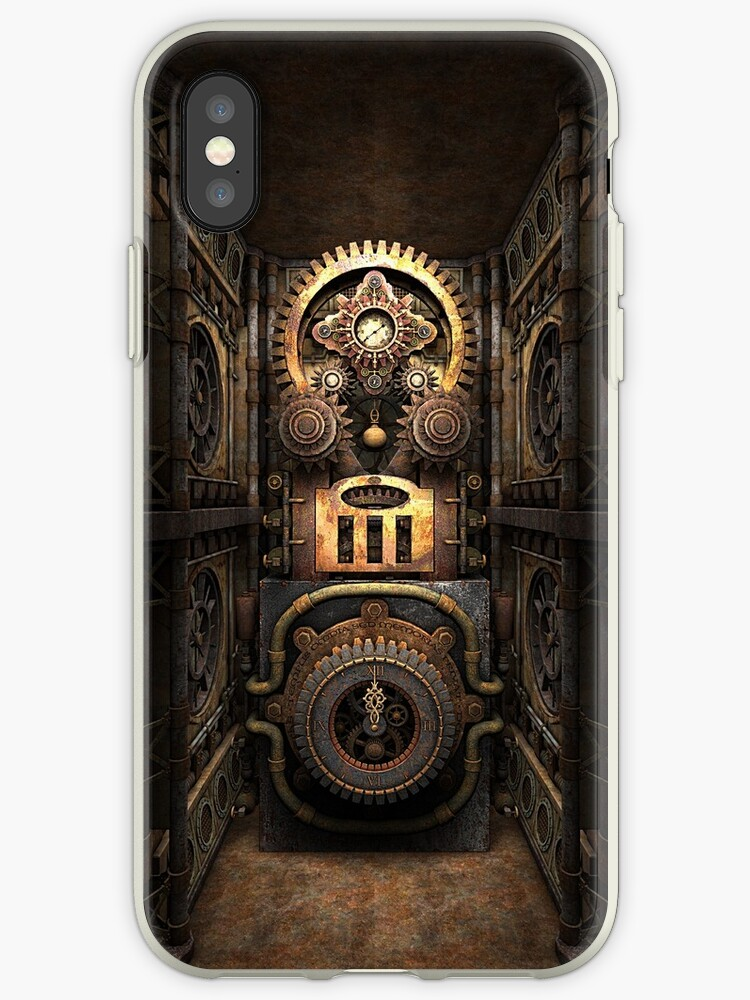Infernal Steampunk Vintage Machine #4 phone cases by Steve Crompton