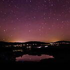 Stars in the sky above a peaceful pond, Cartmel by Clare Gelderd