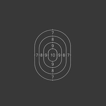 Gun Shooting Range Target Pattern by GetItGiftIt