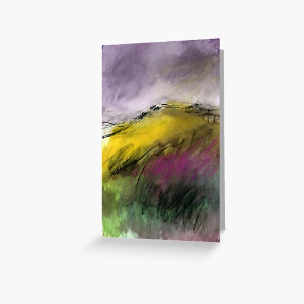 White Tor, Derwent Edge - Peak District Landscape art Greeting Card