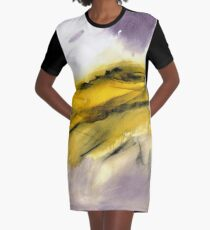 Autumn Moorland - Peak District Landscape Art Gift Graphic T-Shirt Dress