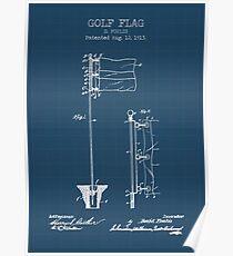 GOLF FLAG blueprint Poster