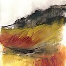 Curbar Edge I - Derbyshire Peak District Landscape painting by Sian Vernon