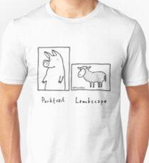 Porktrait T-shirt unisexe