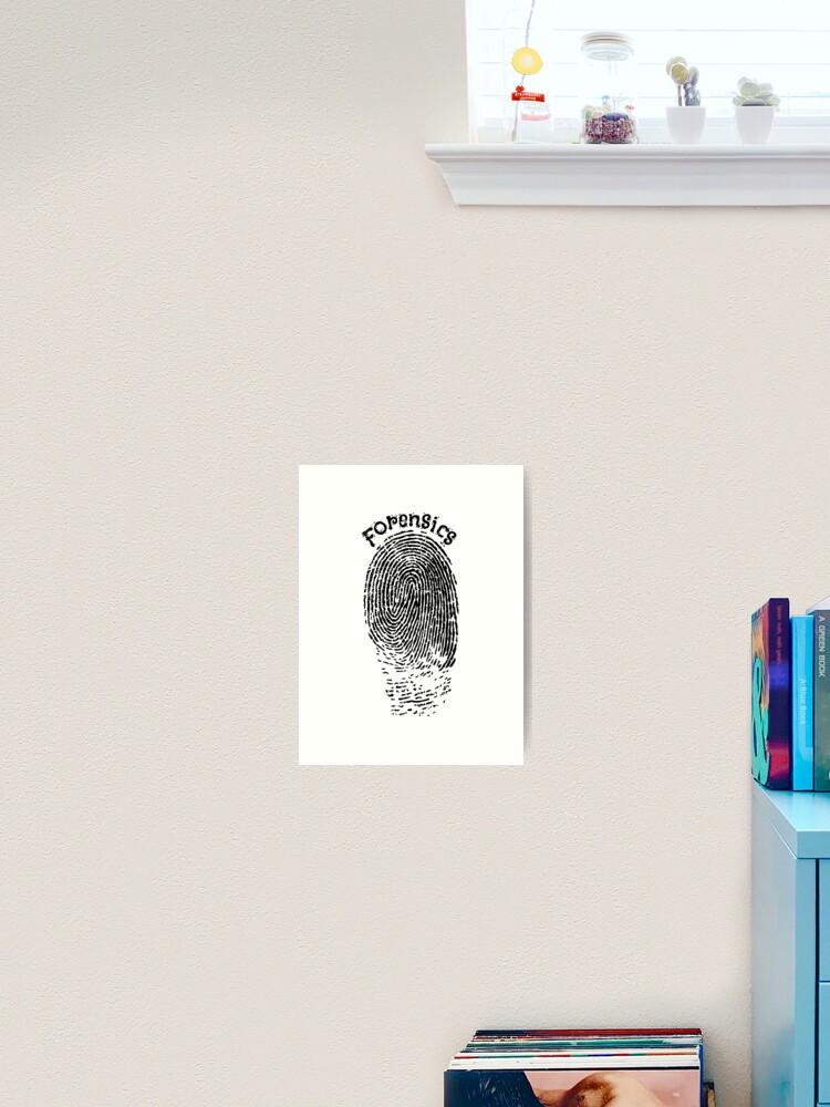 Fingerprint Forensic Police V2 Art Print By Bluerockdesigns Redbubble