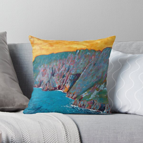 Slieve League, Donegal Throw Pillow