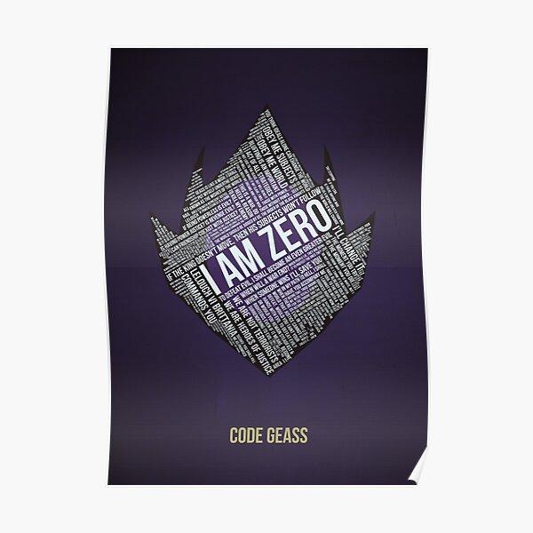 Typographie Code GEASS Poster