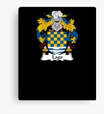 Lago Coat of Arms - Family Crest Shirt Canvas Print