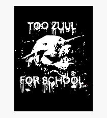 Too Zuul for School Photographic Print
