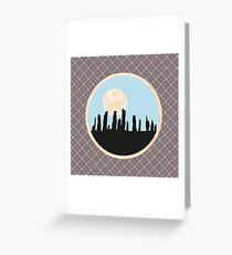 Scottish Standing Stones on Fraser Tartan Greeting Card