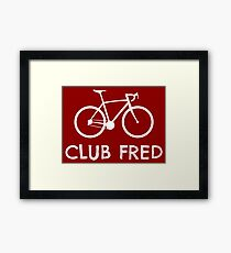 Club Fred Cycling Framed Print