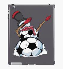 Christmas Dabbing Snowman Soccer Art - Football Lover Gift iPad Case/Skin