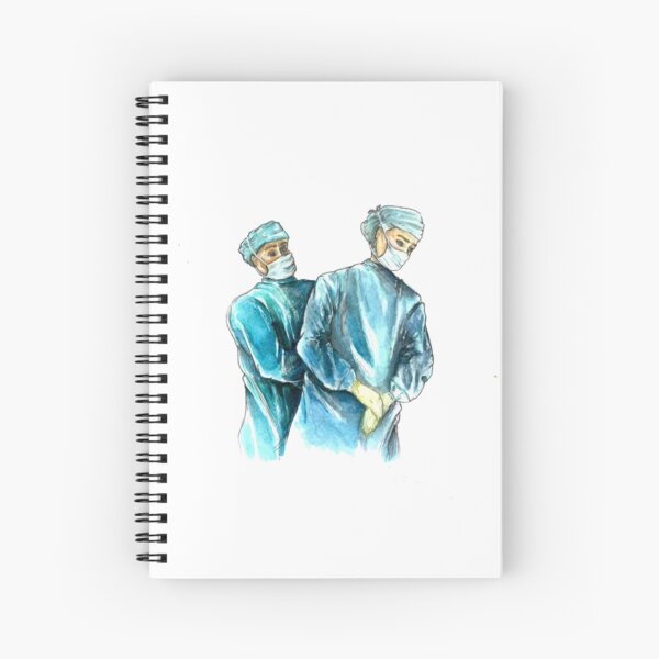 Female Surgeon - Women in Medicine - Medical Art Spiral Notebook