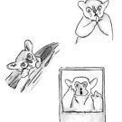 Three Lemurs Sticker Set by WildernessStore