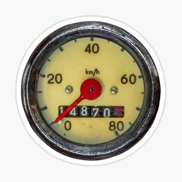 Indicateur de vitesse Vintage Sticker