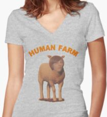 Human Farm Women's Fitted V-Neck T-Shirt