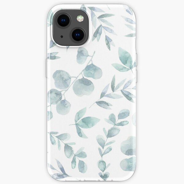 EUCALYPTUS WATERCOLOR LEAVES PATTERN iPhone Soft Case