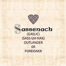 Scottish Sassenach definition, Fraser tartan heart by DEBORAH DEY