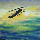 Oil Painting. Biplane. 2010 by Igor Pozdnyakov