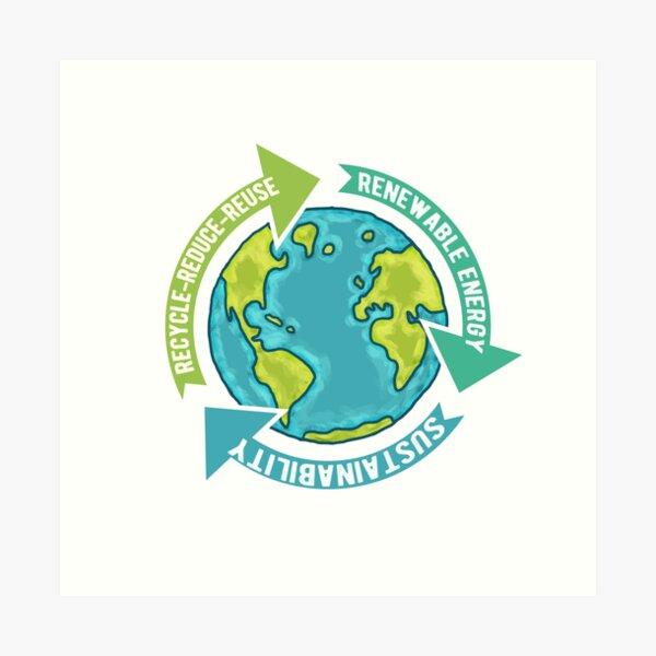 Earth Sustainability Art Print