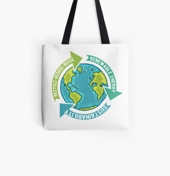 Earth Sustainability All Over Print Tote Bag