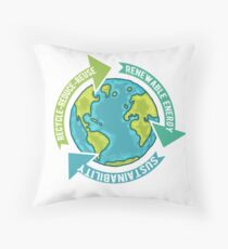 Earth Sustainability Throw Pillow