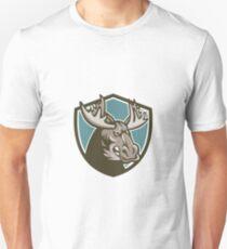 Angry Moose Mascot Shield T-Shirt