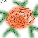« Fleur rose et ses pétales » par VataYellowSeed