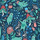 Sloths garden by Anna Alekseeva