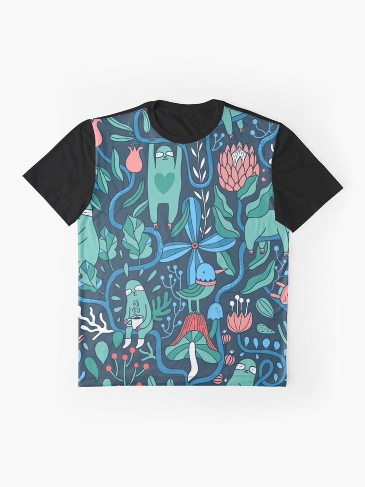 Alternate view of Sloths garden Graphic T-Shirt