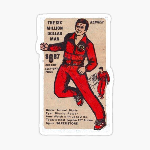 Kenner Six Million Dollar Man ad Sticker