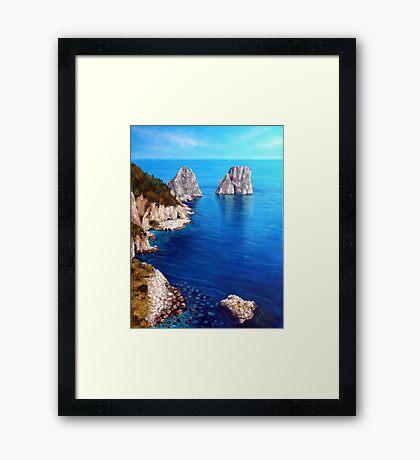 Faraglioni - Capri Island Framed Print