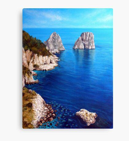Faraglioni - Capri Island Canvas Print