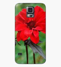 Dahlia Bishop of Llandaff Crimson Red Flower Case/Skin for Samsung Galaxy