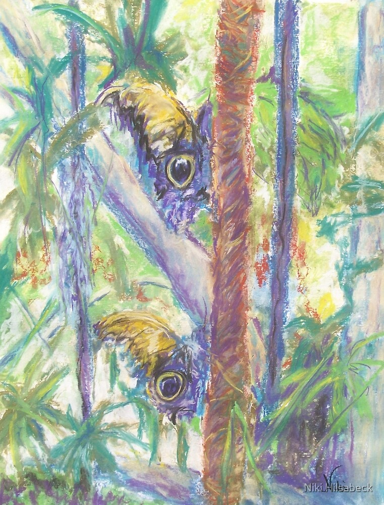 Beauty in Hiding (pastel) by Niki Hilsabeck