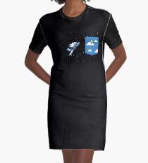 Vestido camiseta Bolsillo espacial