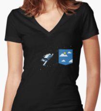 Raumtasche Shirt mit V-Ausschnitt
