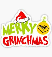 Merry Grinchmas - Christmas Pajamas PJ Gift for Adults/Kids Sticker