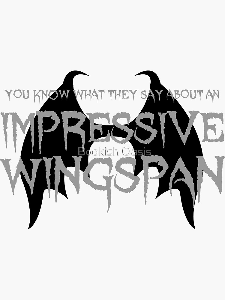 Impressive Wingspan (White) by DeanGirlPrints