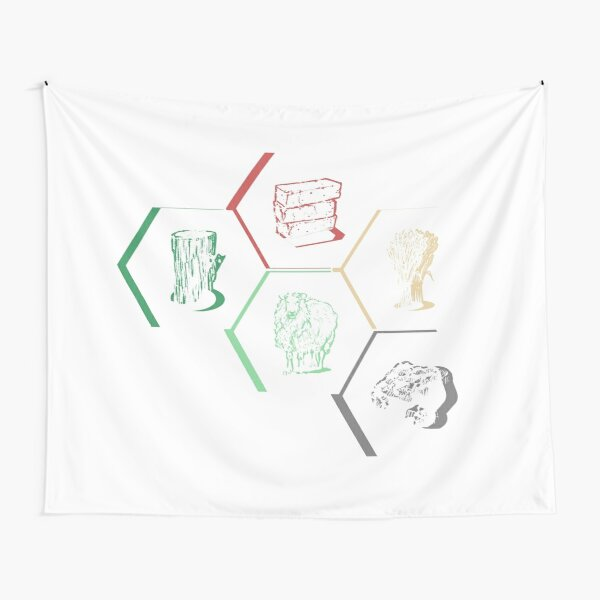 Building Resources Gamer Design - Staggered White Tapestry
